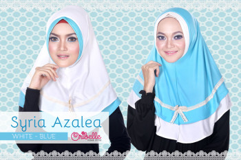 Pusat grosir Jilbab Syiri Azalea by Oribelle White-Blue