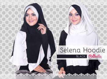 Toko Grosir Semarang Selena Hoodie by Oribelle Black-Green