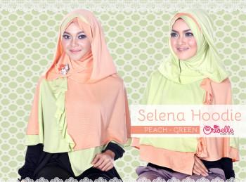 Toko Grosir Semarang Selena Hoodie by Oribelle Peach-Green