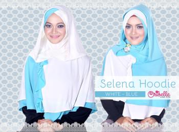 Toko Grosir Semarang Selena Hoodie by Oribelle White-Blue