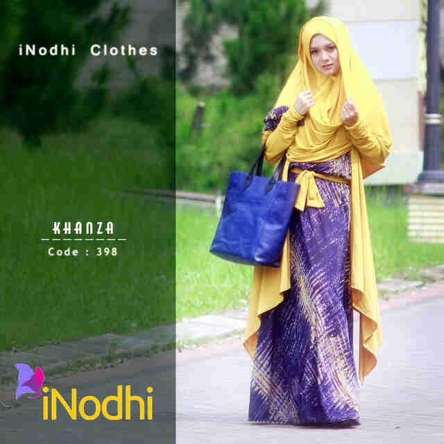 Khanza By Inodhi 398 Baju Muslim Gamis Modern