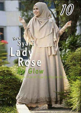 Gamis Muslim Wanita Modern Lady Rose by Be Glow 10