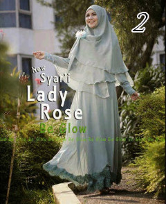 Gamis Muslim Wanita Modern Lady Rose by Be Glow 2