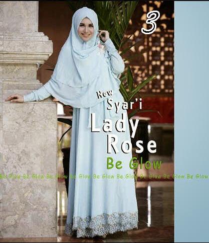 Gamis Muslim Wanita Modern Lady Rose by Be Glow 3