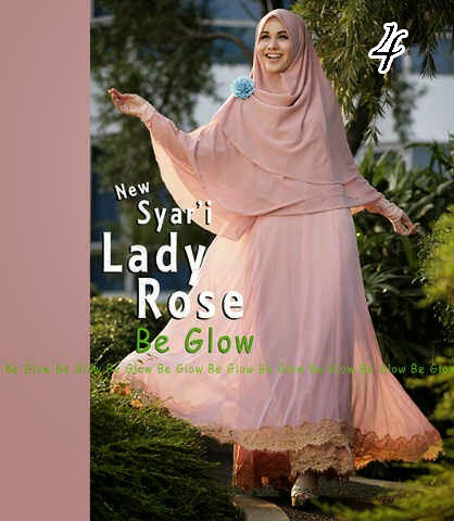 Gamis Muslim Wanita Modern Lady Rose by Be Glow 4