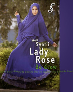 Gamis Muslim Wanita Modern Lady Rose by Be Glow 5
