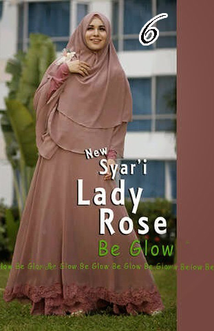 Gamis Muslim Wanita Modern Lady Rose by Be Glow 6
