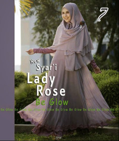 Gamis Muslim Wanita Modern Lady Rose by Be Glow 7