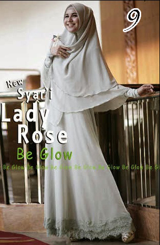 Gamis Muslim Wanita Modern Lady Rose by Be Glow 9