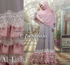 Grosir Baju muslim Wanita Syar'i Al Lisha  Syar'i by Farghani Grey
