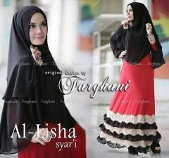 Grosir Baju muslim Wanita Syar'i Al Lisha  Syar'i by Farghani Merah