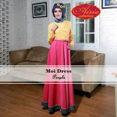 Grosir Busana Muslim Moi Dress by Airia Purple
