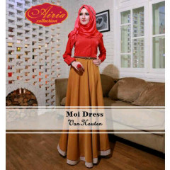 Grosir Busana Muslim Moi Dress by Airia Van Houten