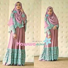 Grosir Busana Muslim Syar'i KD Amor by HawwaAiwa Purple
