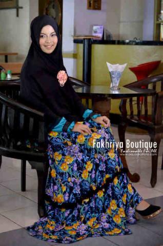 Grosir Busana Muslim Syar'i Zafira by Fakhriya Hitam Tosca