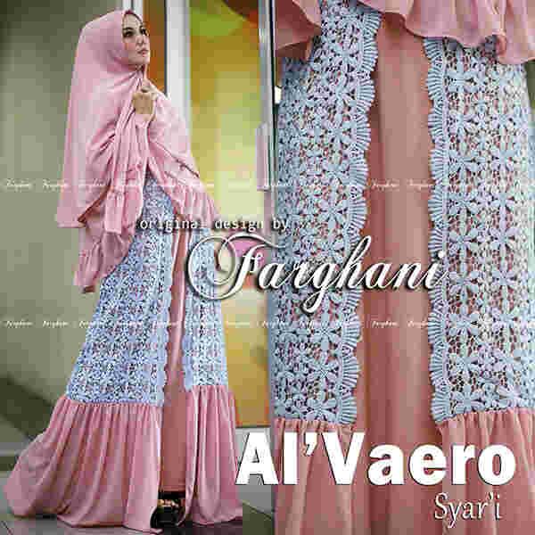 Grosir Busana Muslim Terbaru Al'Vaero by Farghani Dusty Pink