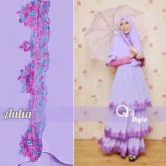 Pusat Gamis Terbaru Aulia by Qhi Style Purple