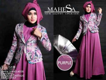 Pusat Grosir Baju Muslim Balimo Mahesa Purple