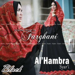Pusat Grosir Baju Muslim Wanita Al Hambra by Farghani Black