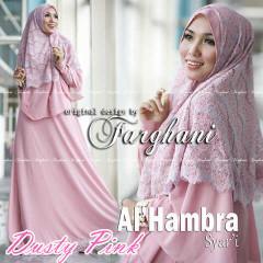 Pusat Grosir Baju Muslim Wanita Al Hambra by Farghani Dusty Pink
