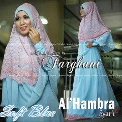Pusat Grosir Baju Muslim Wanita Al Hambra by Farghani Soft Blue