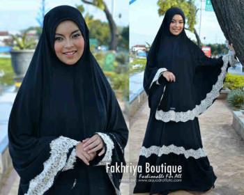 Pusat Grosir Busana Muslim Aisya by Fakhriya Black