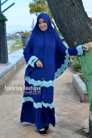 Pusat Grosir Busana Muslim Aisya by Fakhriya Royal Blue