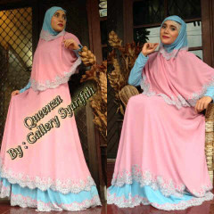 Pusat Grosir Busana Muslim Quenzza by Gallery Syarifah Dusty Pink