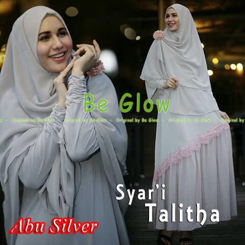 Pusat Grosir Busana Muslim Syar'i Talitha by Be Glow Abu Silver copy