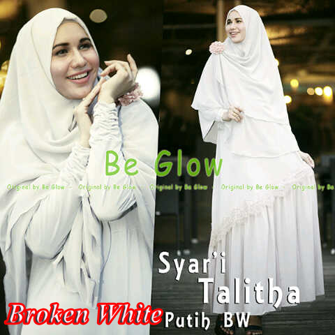 Pusat Grosir Busana Muslim Syar'i Talitha by Be Glow Broken White copy