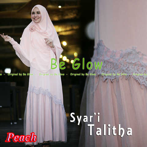Pusat Grosir Busana Muslim Syar'i Talitha by Be Glow Peach copy