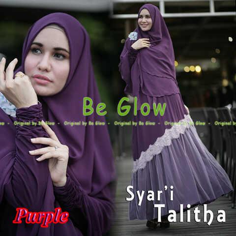 Pusat Grosir Busana Muslim Syar'i Talitha by Be Glow Purple copy