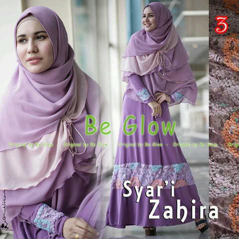 Zahira By Be Glow 3 Baju Muslim Gamis Modern