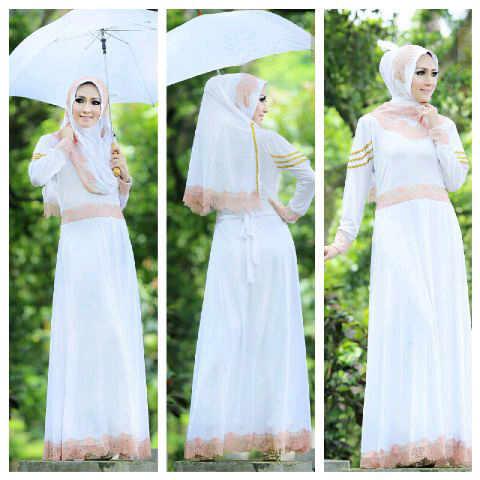 Shazia By Fitria Style Putih Baju Muslim Gamis Modern