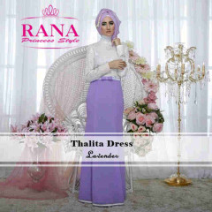 Pusat Grosir Busana Muslim Thalitha Dress by Rana Lavender