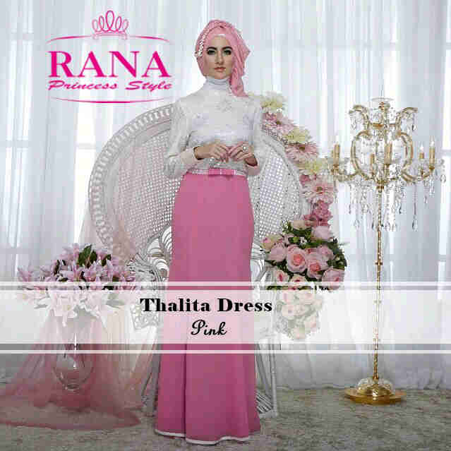 Pusat Grosir Busana Muslim Thalitha Dress by Rana Pink