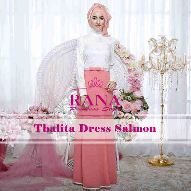 Pusat Grosir Busana Muslim Thalitha Dress by Rana Salmon