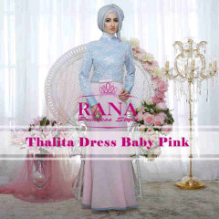 Pusat Grosir Busana Muslim Thalitha Dress by Rana baby Pink