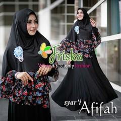 Trend Busana Muslim Terbaru Afifah Syar'i by Friska Hitam