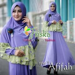 Trend Busana Muslim Terbaru Afifah Syar'i by Friska Purple