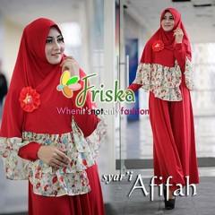 Trend Busana Muslim Terbaru Afifah Syar'i by Friska Red