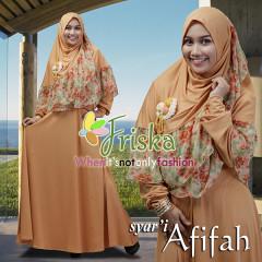 Trend Busana Muslim Terbaru Afifah Syar'i by Friska Soft Orange