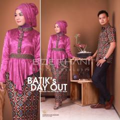 Baju Muslim Kopel Terbaru 2015 Syakila & Syam by Boerhani  Pink