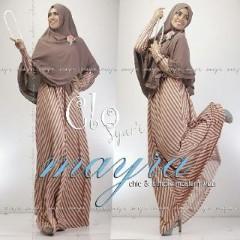 Baju Muslim Wanita Modern Clo Syar'i by Mayra Coklat