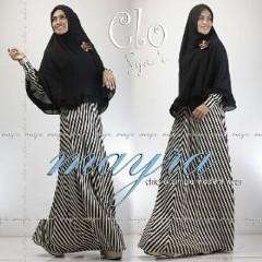 Baju Muslim Wanita Modern Clo Syar'i by Mayra Hitam