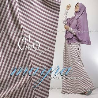 Baju Muslim Wanita Modern Clo Syar'i by Mayra Ungu