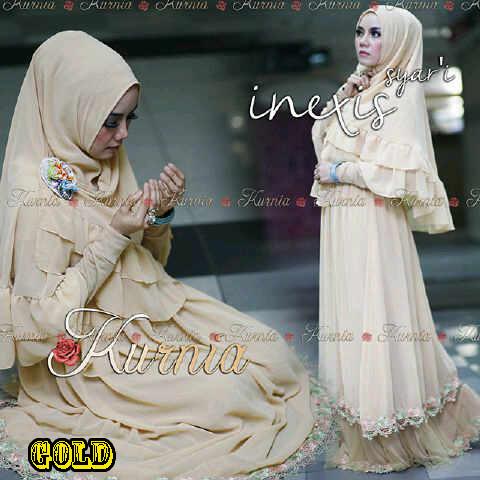Baju Muslim Wanita Terbaru inexis vol2 Gold