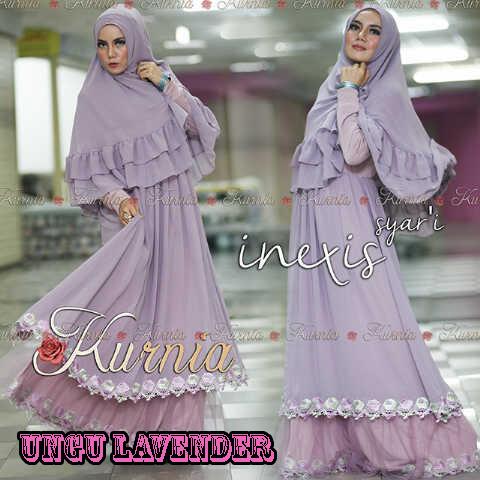 Baju Muslim Wanita Terbaru inexis vol2 Ungu Lavender