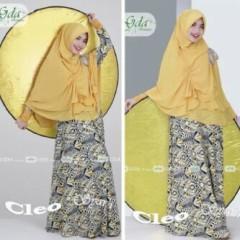 Baju Muslimah Terbaru Cleo Syar'i by GDA Kuning