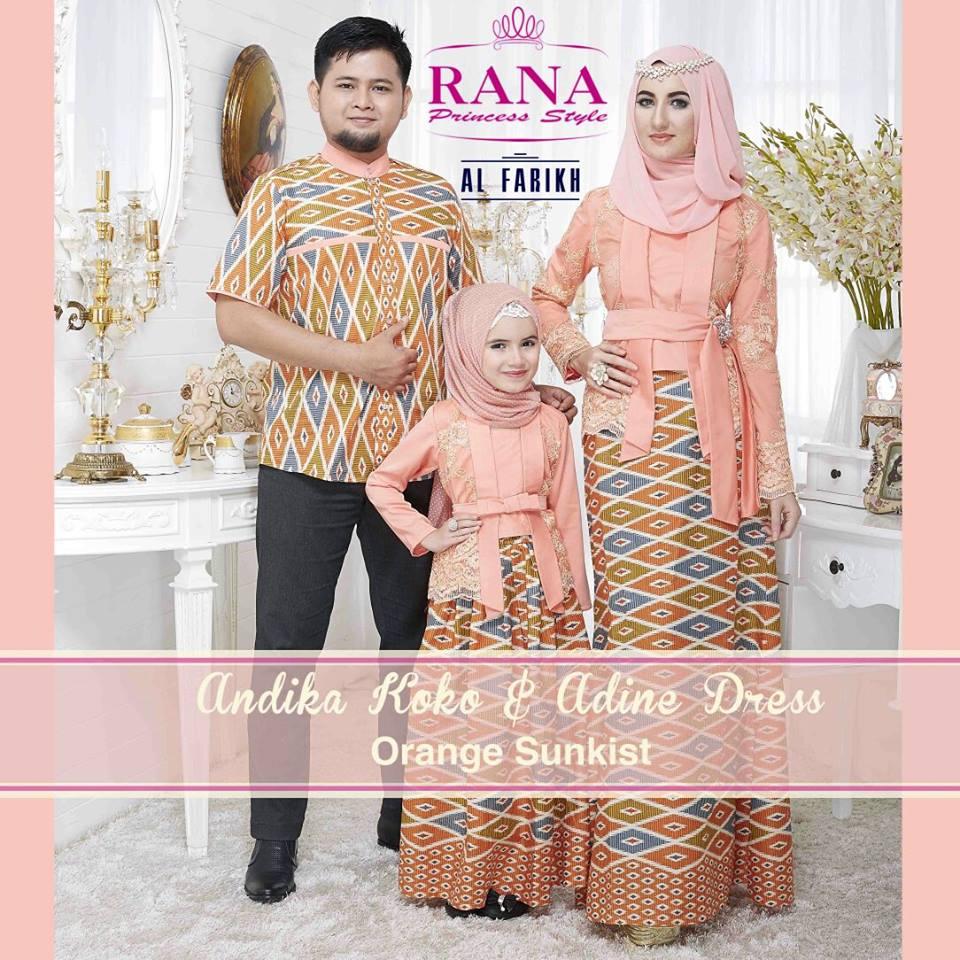 Model gamis pesta untuk ibu menyusui baju gamis pesta modern terbaru - Andika Adine Orange Sunkist Baju Muslim Gamis Modern